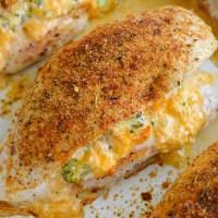 Broccoli Cheddar Stuffed Chicken (low carb + keto)