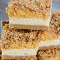 Keto Pumpkin Cheesecake Bars