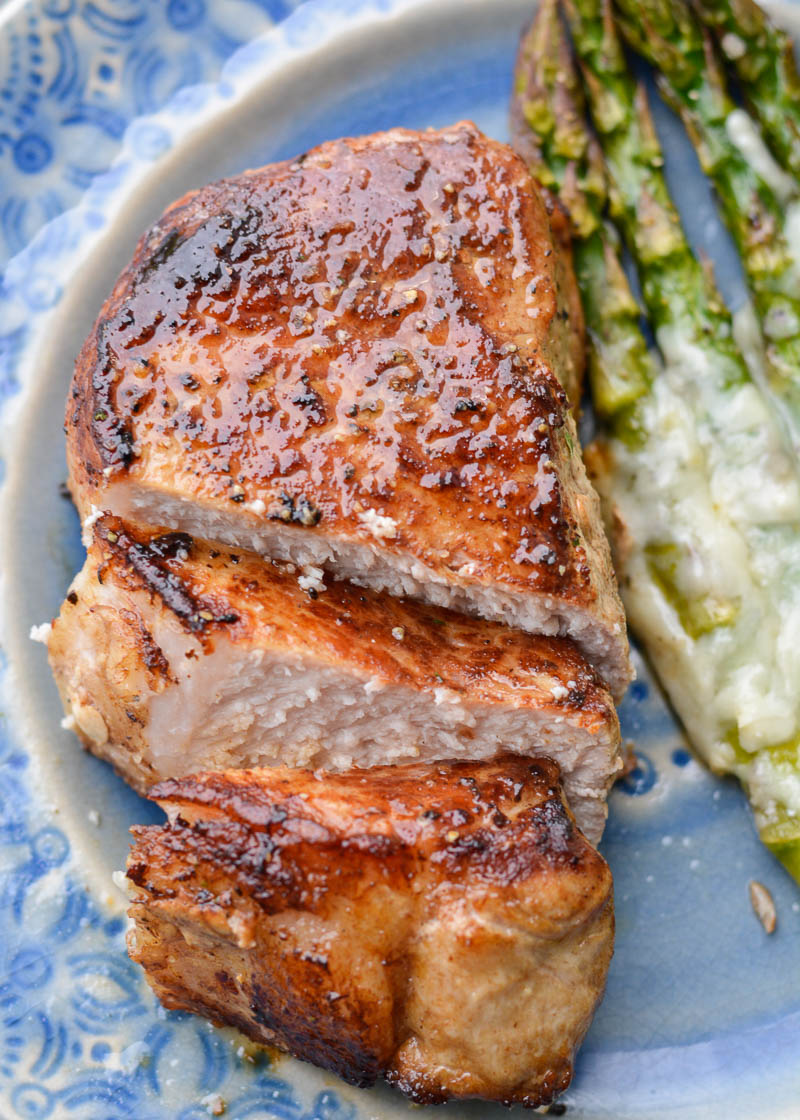 Learn exactly how to cook a two inch pork chop so it is perfectly tender and juicy!