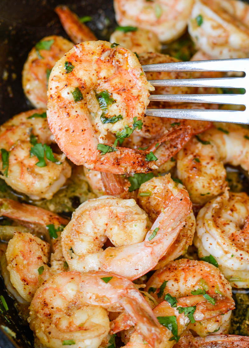 Make this One Pan Cilantro Lime Shrimp on busy nights for a flavor packed, keto-friendly meal that is ready in a flash!