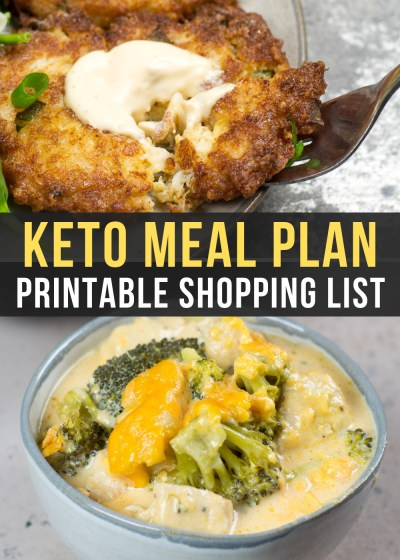 Week 9 of the Easy Keto Meal Plan includes greats like keto crab cakes and broccoli cheddar chicken casserole