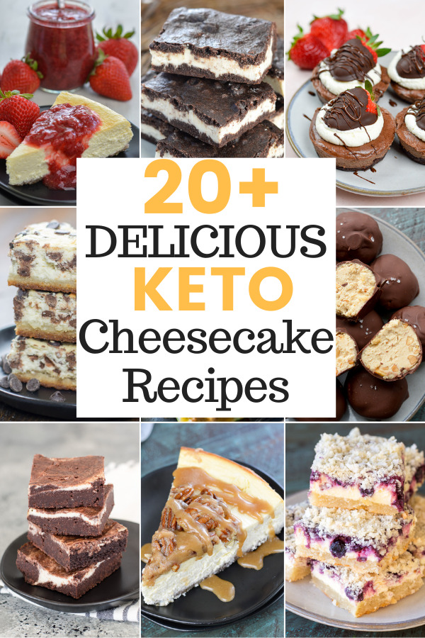 Here are more than 20 Delicious Keto Cheesecake Recipes perfect for your low-carb lifestyle!Seasonal flavors, no-bake options, and cheesecake bites included!