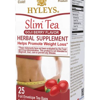Hyleys Slim Tea Goji Berry - 25 Tea Bags 100% Natural