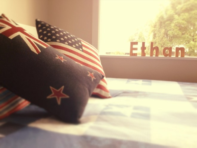 New Zealand, USA flag pillows
