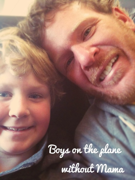 Dave and Ethan on the plane