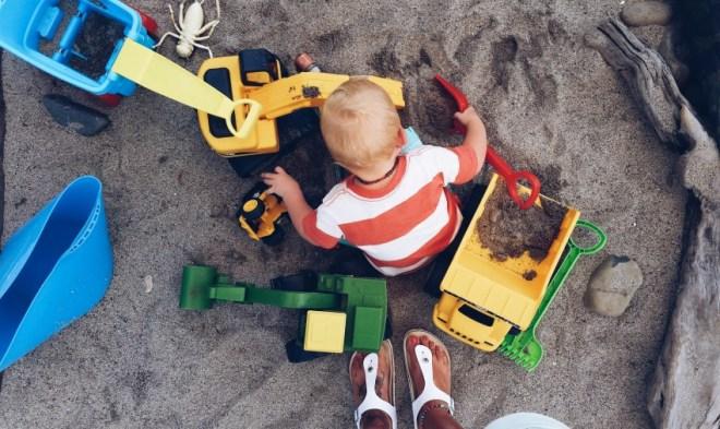 Toddler in Sandpit Tantrum New Zealand Mummy Blog