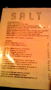 Salt Wine List
