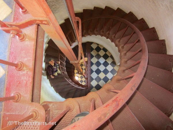 Gail inside Hatteras Lighthouse