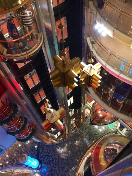 Freedom of the Seas aft elevator tower