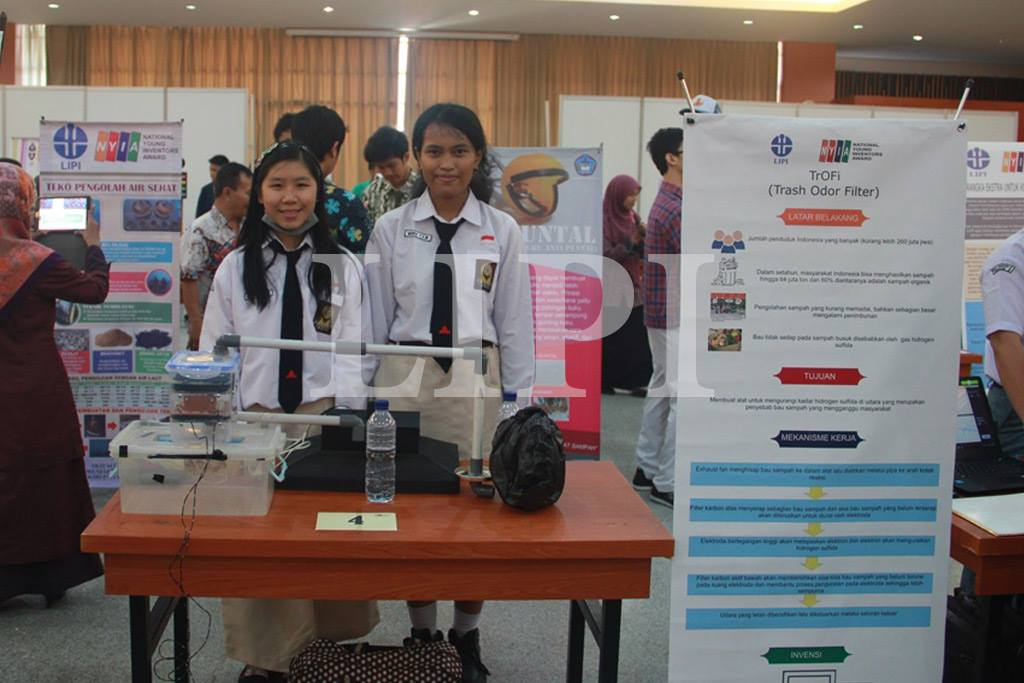 Based on the above problems, Graciela Natalia Chandra and Mirna Theresia Eka from SMAN 3 Yogyakarta made a very useful tool for Indonesian people named Trash Odor Filter (TrOFI) thanks to this work they became one of the finalists in the national Young Inventor Award held by the institution Science Indonesia