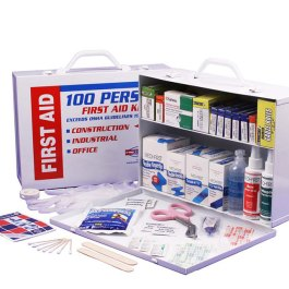 2 Shelf First Aid Kit Cabinet