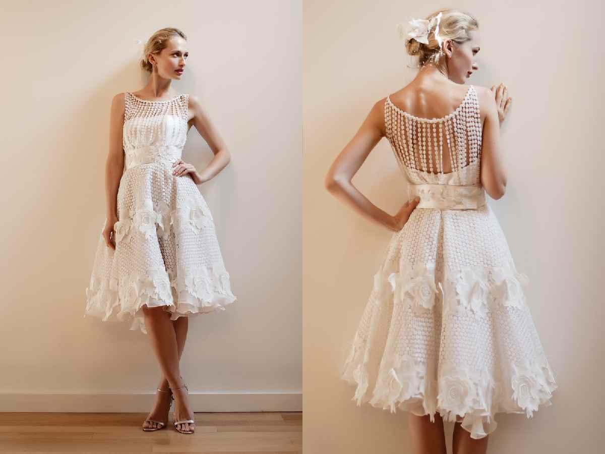 17 Coolest Variants Of Short Wedding Dresses