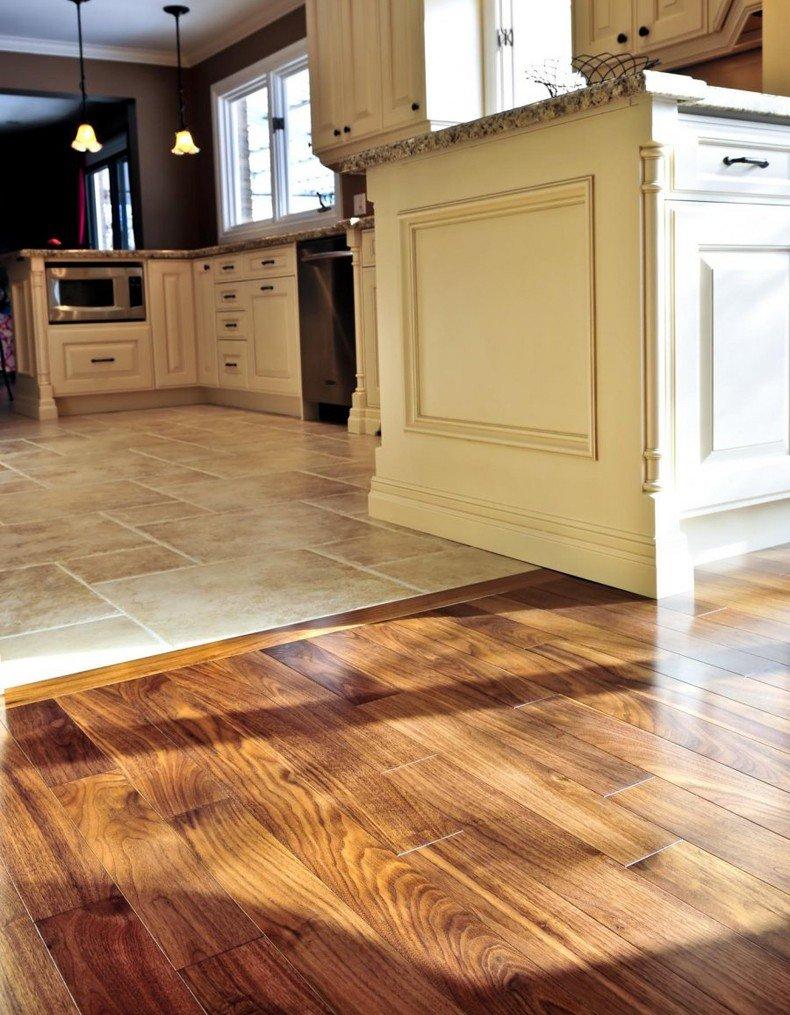 hardwood to tile transition ideas