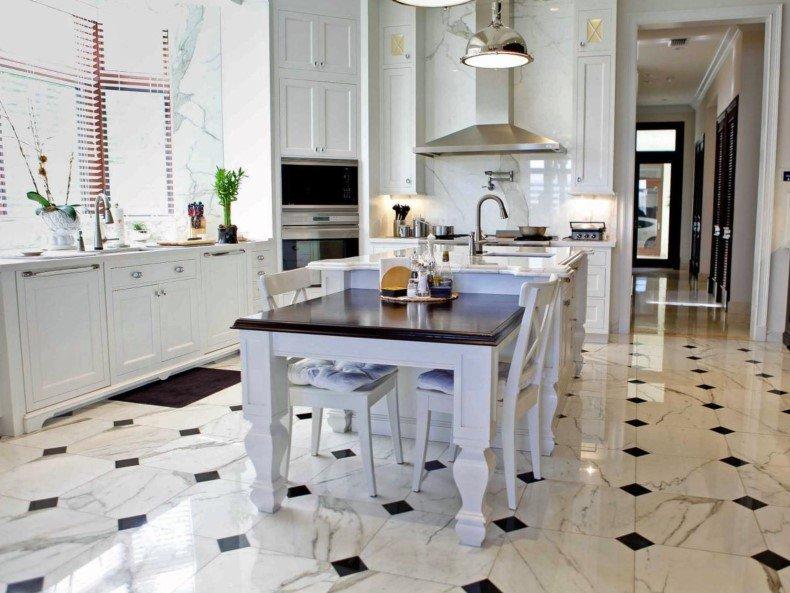 farmhouse floor tile for your kitchen