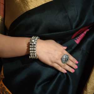 Silver Look Alike Kada with Modern look