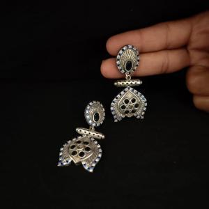 Tiny Silver Look Alike Earring