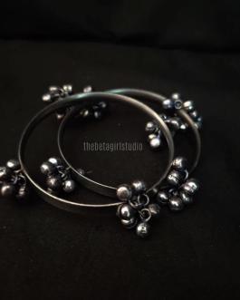 Ghunghroo Silver Look Alike bangles