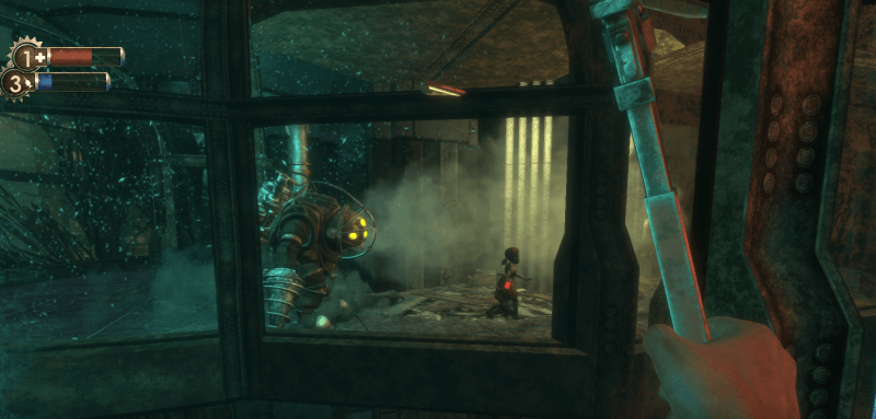 Bioshock Remastered Review, Big Daddy and little sister