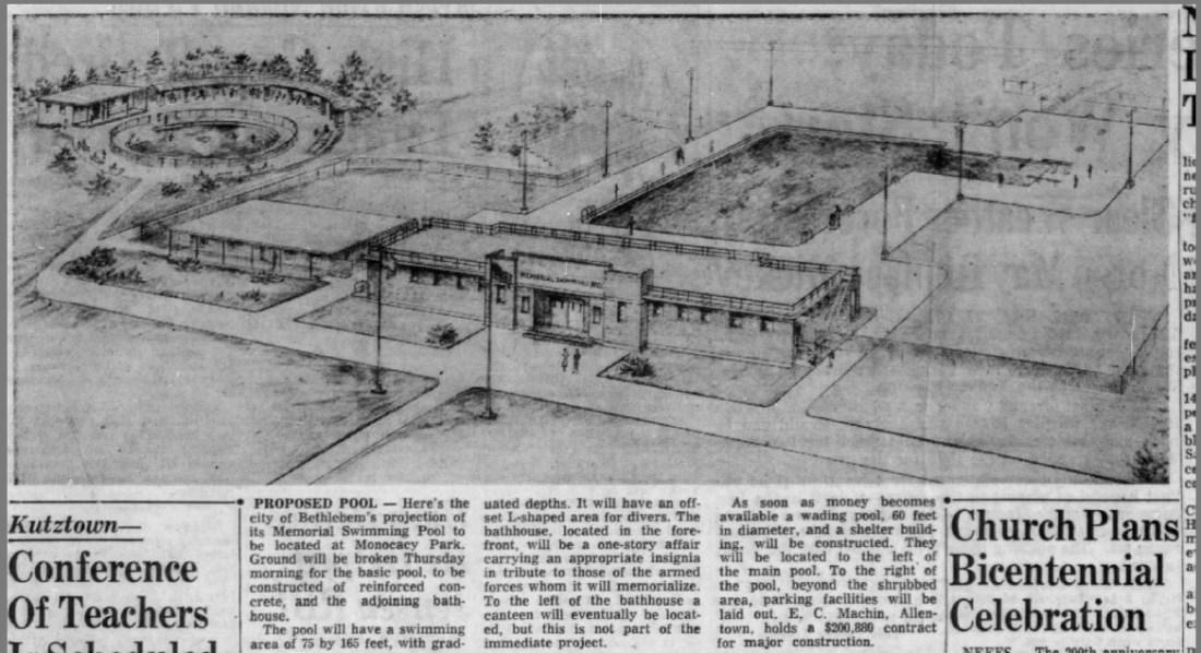 Memorial Pool design