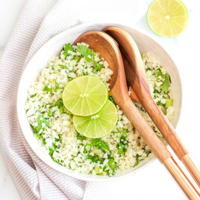 Cilantro Lime Cauliflower Rice – Keto, Paleo, GF