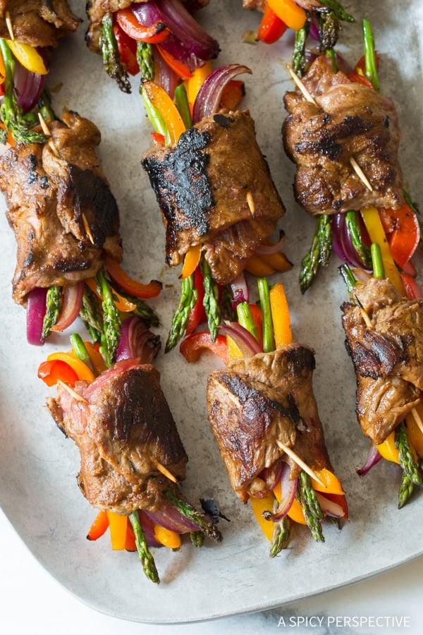 low carb steak fajita roll ups