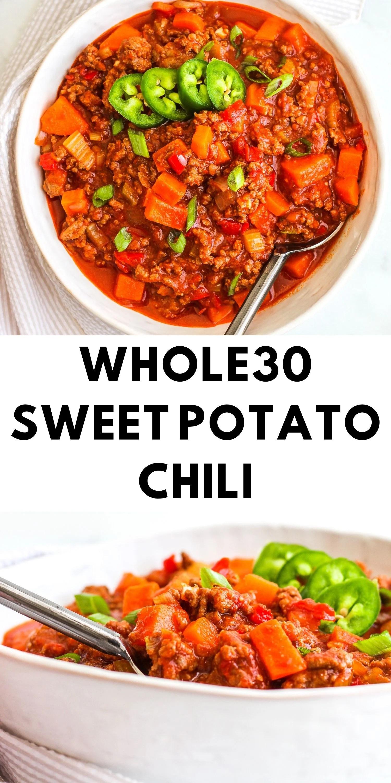 Whole30 Sweet Potato Chili