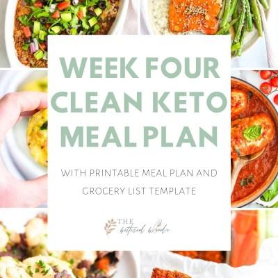 Week Four Clean Keto Meal Plan