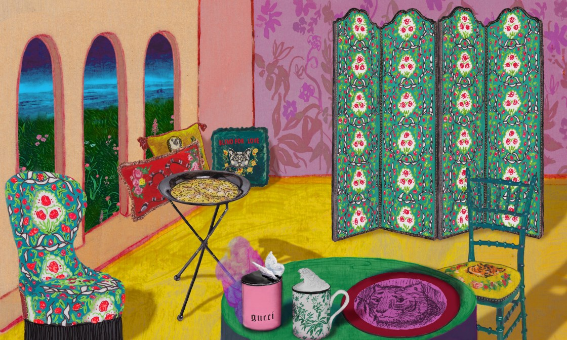 Gucci Home Collection Gucci Decor The Better Places llustrations
