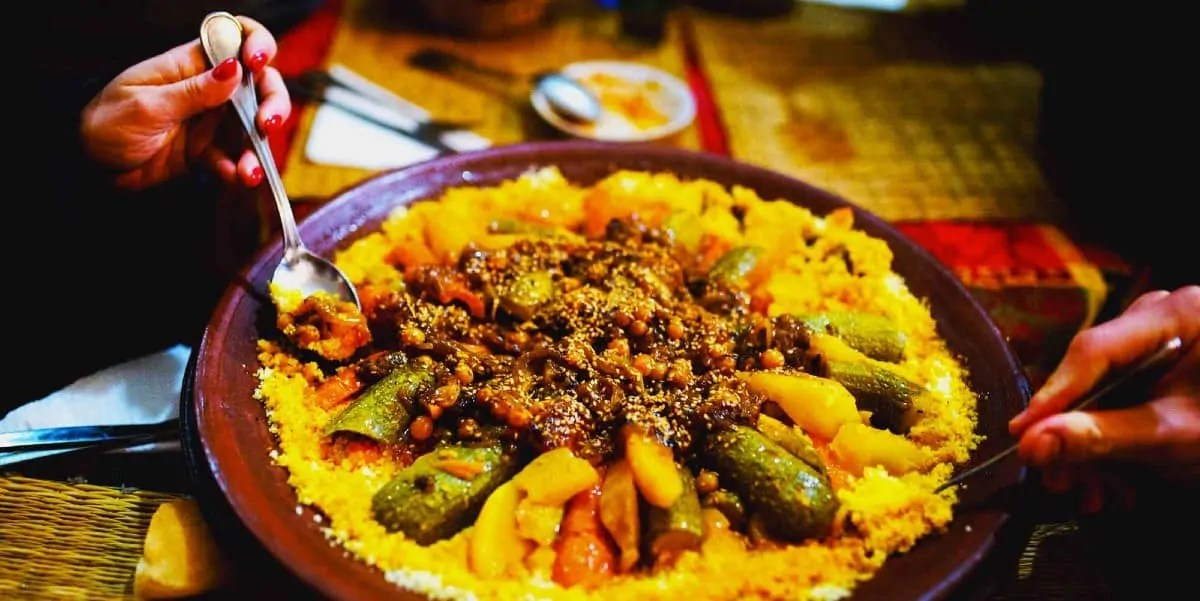 Halal food in Marrakech, during holiday