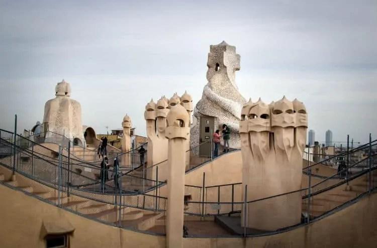 Tourists on Casa Mila roof