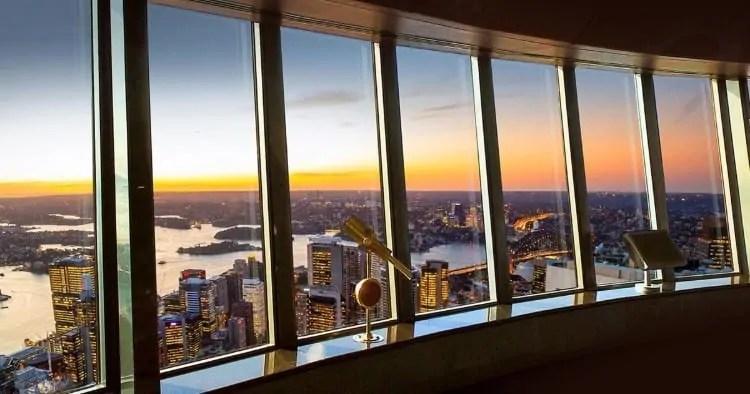 Sunset at Sydney Tower