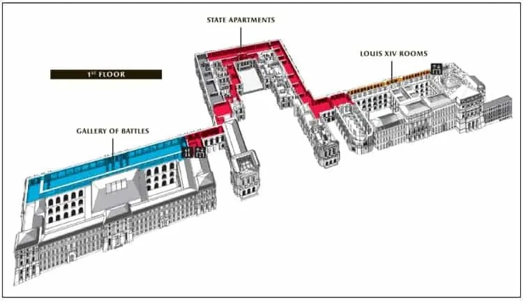 Palace of Versailles First floor-map