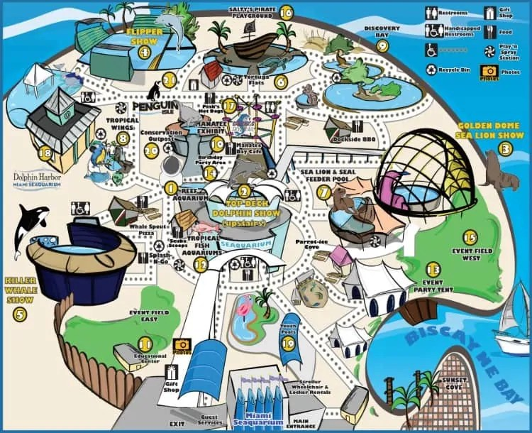 Miami Seaquarium map