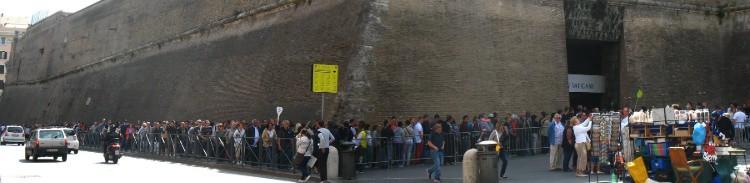 Ticket counter queue at Vatican Museums