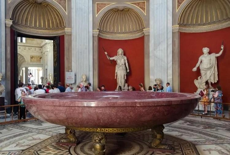 Porphyry Basin at Vatican Museums