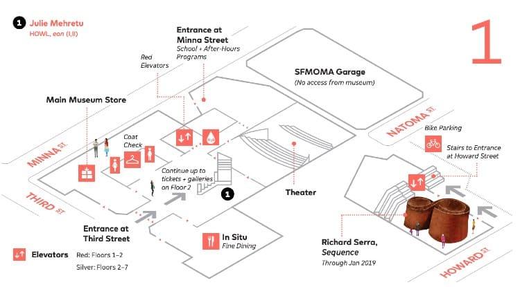 SFMoMA map - First Floor