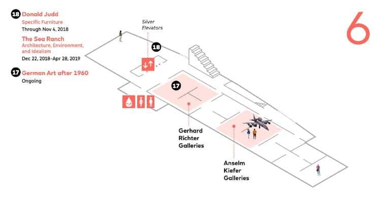 SFMoMA map - Sixth Floor