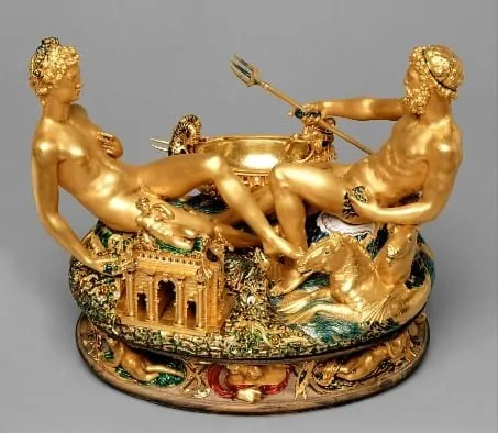 Saliera by Cellini at Kunsthistorisches Museum