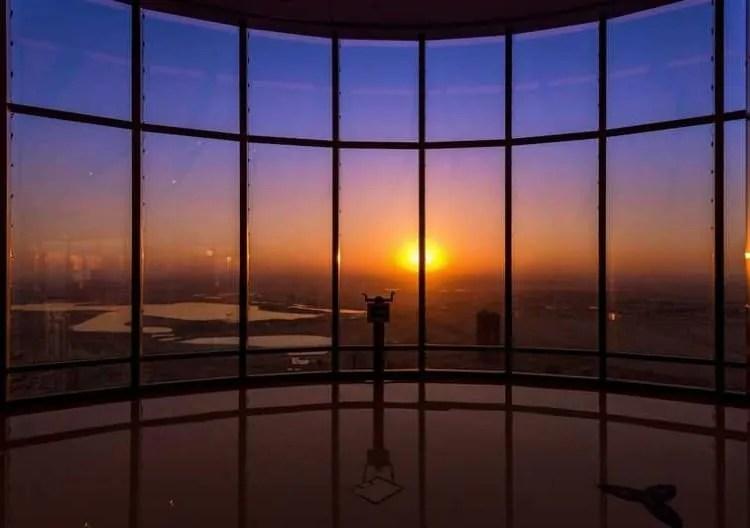 Sunrise from Burj Khalifa
