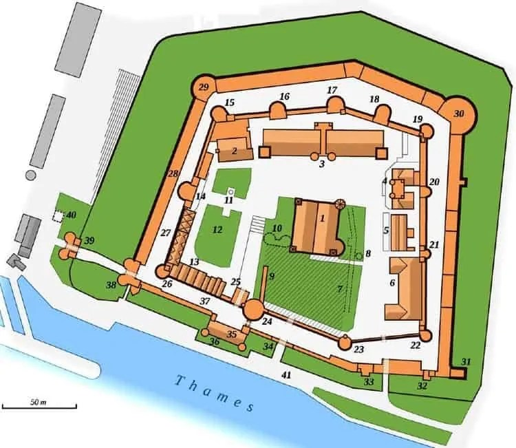 Map of Tower of London