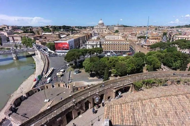 View from roof of Castel Sant Angelo