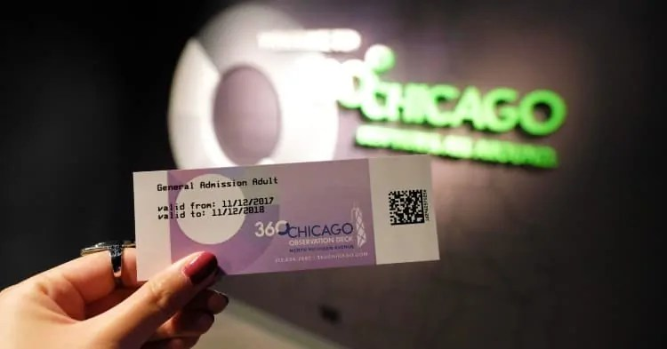 360 Chicago entry ticket