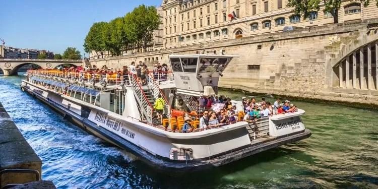 Pleasure Cruise Boats on River Seine