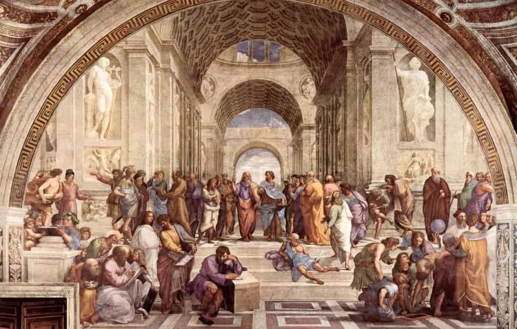 School of Athens by Raphael at Vatican Museum