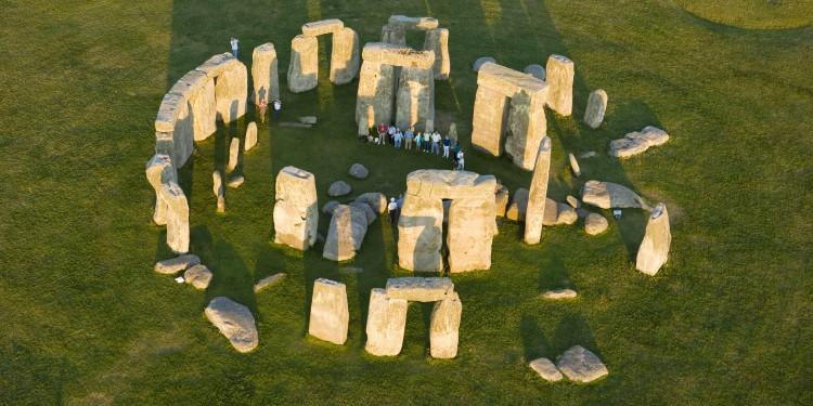 Stonehenge with people