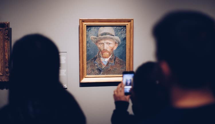 Vincent Van Gogh's self portrait at Rijksmuseum
