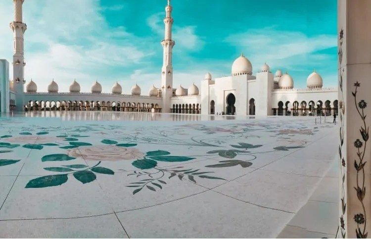 Central Courtyard of Sheikh Zayed Grand Mosque