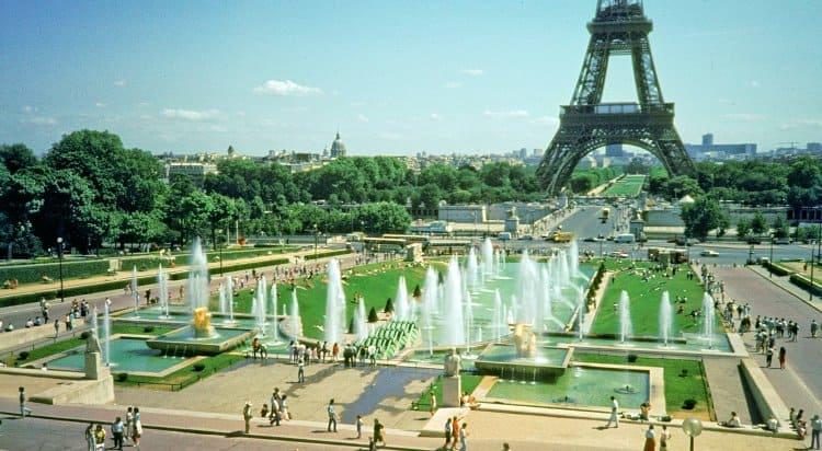 Eiffel Tower from Trocadero Gardens