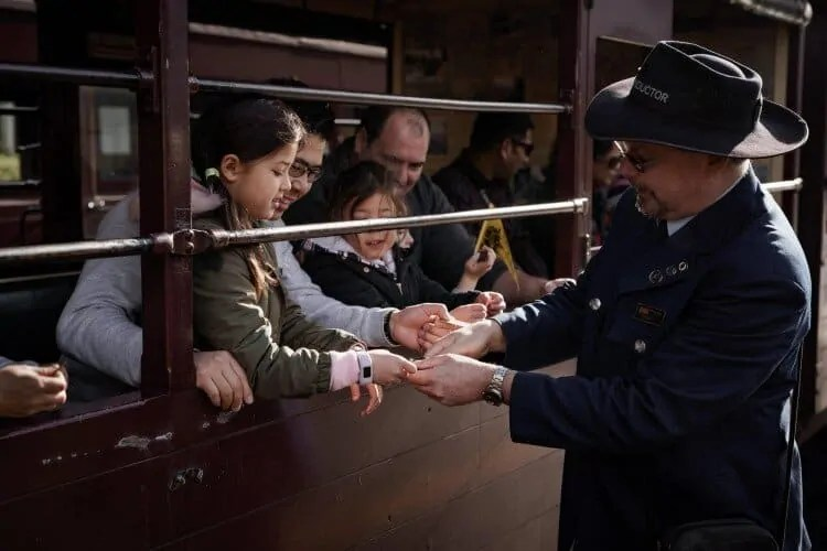 Puffing Billy ticket conductor