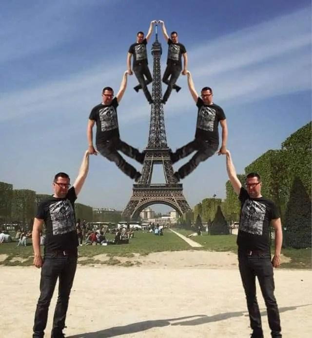 Self help is the best help to reach Eiffel Tower